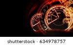 double exposure car dashboard... | Shutterstock . vector #634978757