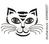 beautiful cat. vector... | Shutterstock .eps vector #634980557