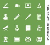 set of 16 science icons set... | Shutterstock .eps vector #634987853