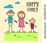 happy family day. suitable for... | Shutterstock .eps vector #635001923