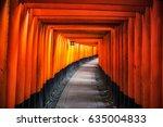 fushimi inari taisha torii... | Shutterstock . vector #635004833