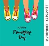 best friends forever  happy... | Shutterstock .eps vector #635014457