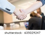 Small photo of Check hand for agreement a good deal.