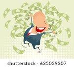 vector illustration of a happy... | Shutterstock .eps vector #635029307