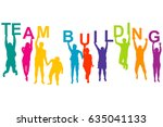 team building concept with... | Shutterstock . vector #635041133