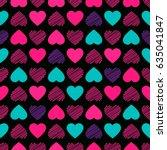 seamless pattern. modern bright ... | Shutterstock .eps vector #635041847