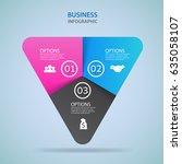 modern infographics process ... | Shutterstock .eps vector #635058107