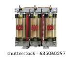 the voltage transformer power... | Shutterstock . vector #635060297