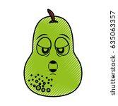 pear fresh fruit kawaii...   Shutterstock .eps vector #635063357