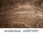 old grunge dark textured wood...   Shutterstock . vector #635071907