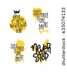 color inspirational vector... | Shutterstock .eps vector #635074133