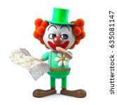3d render of a funny cartoon... | Shutterstock . vector #635081147