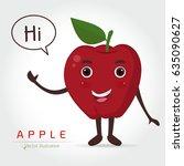 apple vector icon cartoon style ...   Shutterstock .eps vector #635090627