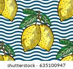 elegant seamless pattern with... | Shutterstock .eps vector #635100947