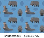Cute Hippopotamus Wallpaper
