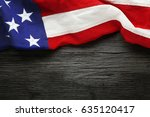 red  white  and blue american... | Shutterstock . vector #635120417