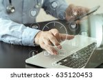 smart medical doctor working...   Shutterstock . vector #635120453