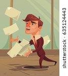 careless inattentive... | Shutterstock .eps vector #635124443