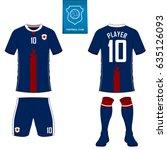 set of soccer kit or football... | Shutterstock .eps vector #635126093