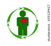 vector illustration. the emblem ... | Shutterstock .eps vector #635129417