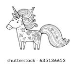 unicorn. magical animal. vector ...