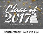 graduation wishes overlays ... | Shutterstock .eps vector #635145113