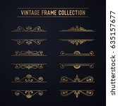 luxury vintage frame collection | Shutterstock .eps vector #635157677