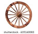 old wooden wheel.   Shutterstock . vector #635160083