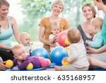 young women in mother and child ... | Shutterstock . vector #635168957