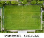 aerial view of soccer field in... | Shutterstock . vector #635180333