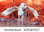 Mythical Pegasus Posing In An...