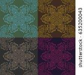 dark round ornamental... | Shutterstock .eps vector #635200043
