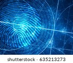 Blue Glowing Fibonacci Circles...