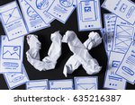 Ux Letters Made Of Crumpled...