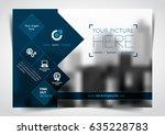vector brochure  flyer ... | Shutterstock .eps vector #635228783