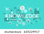 knowledge  science  school and... | Shutterstock .eps vector #635229917