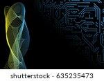 abstract vector hi tech...   Shutterstock .eps vector #635235473