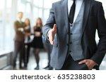 a business man with an open... | Shutterstock . vector #635238803