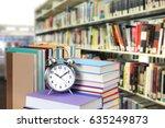 nobody in library for... | Shutterstock . vector #635249873