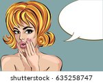 pin up style sexy dreaming... | Shutterstock .eps vector #635258747