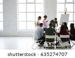 colleagues working together of... | Shutterstock . vector #635274707