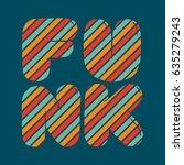 funk colorful strips bubble...   Shutterstock .eps vector #635279243