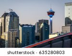 Small photo of Sunset of Calgary skyline, Alberta, Canada