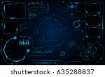 hud template cyberspace sci fi... | Shutterstock .eps vector #635288837