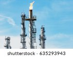 oil and gas industry refinery... | Shutterstock . vector #635293943