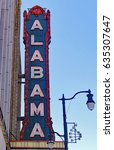 Small photo of Alabama Sign; This is an old sign that still works
