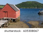 Dilapidated Red Fishing Shack...