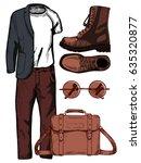 vector illustration of a male... | Shutterstock .eps vector #635320877