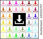 download sign illustration.... | Shutterstock .eps vector #635322707