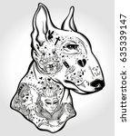 Bull Terrier's Portrait Made I...
